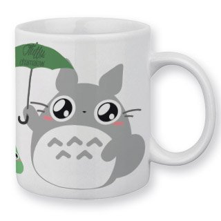 Mug Totoro Parapluie by Fluffy Chamalow - Fabriqué en France - Chamalow Shop