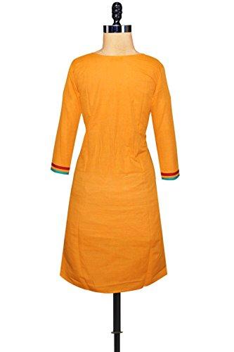 Unnati Silks Women Orange Color Pure Handloom Chanderi Kurta
