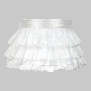 Jubilee Collection 4770 Ruffled Sheer Skirt Shade, Large, White by Jubilee Collection -