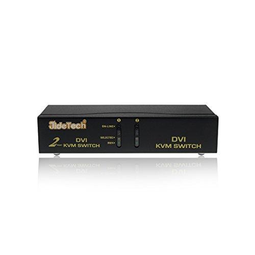 Gentlen KVM Switch DVI USB 2 Anschlüsse Kompatibel mit HDCP Unterstützt Hohe Auflösung bis zu 1920x1400