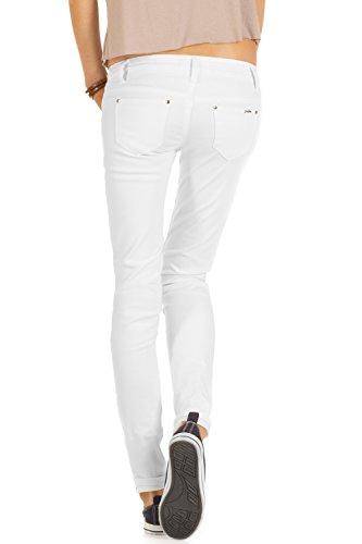 Bestyledberlin Damen Jeanshosen, Skinny Jeans j71e Weiß