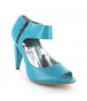 FARASION - Sandales femme bleu - B10703-7 Bleu