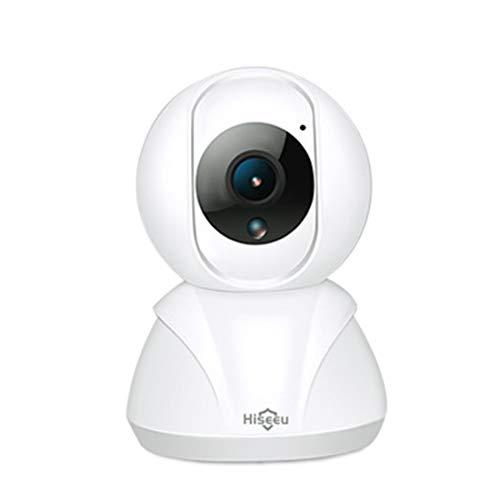 Telecamera dome 1080P Wifi, Localizzazione automatica della rete wireless Sicurezza / Telecamera per interni con allarme intelligente, Modalità privacy, Audio bidirezionale e visione notturna, Bianco