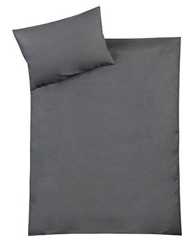 Julius Zöllner Parure de lit avec housse 100 x 135 cm et taie 40 x 60 cm Gris anthracite