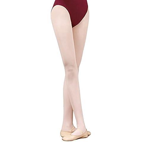 TXJ Collant Balletto per Ragazze e Donne (Rosa, L (altezza above 150CM))