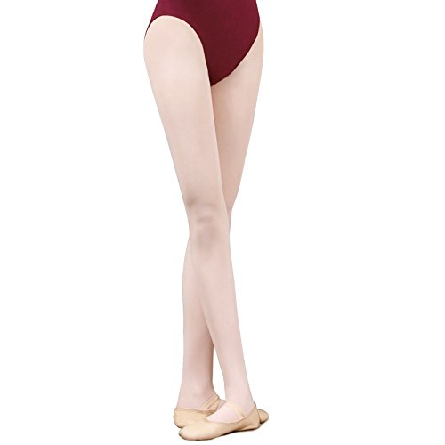 TXJ Collant Balletto per Ragazze e Donne (Rosa, M (Altezza 130-150CM))