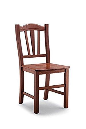 Ordine min. 2 pz sedia poltrona Silvana in legno massello noce marrone casa ristorante