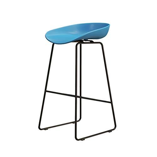Eisen Barhocker Industrial Style für Küche und Restaurant Barhocker Sitzhöhe 75 cm / 65 cm / 45 cm Blau - Eisen Barhocker