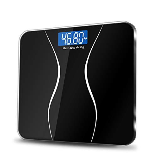 Gewicht Waagen Digital Gewicht Personenwaage High Precision Bitte bleib gesund,Black