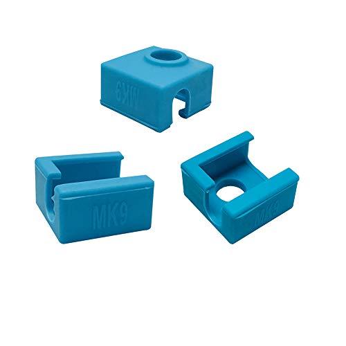 Impresora 3D Silicone Sock Bloque calentador Cubierta de silicona MK7 MK8 MK9 Hotend para Ender 3 Creality CR-10 10S S4 S5 ANET A8 Eewolf