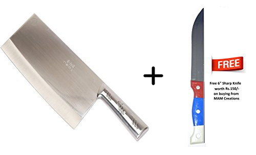 Mam creations heavy duty stainless steel chefs chopperknifemeat 5 products added to cart in last 30 minutes publicscrutiny Image collections