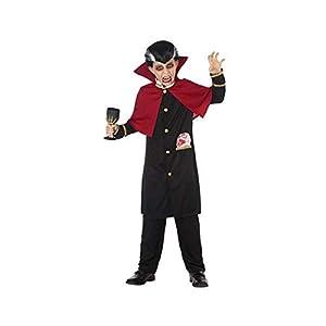 Atosa-55623 Disfraz Vampiro Para Niño Infantil, color negro, 5 A 6 AÑOS. (55623)