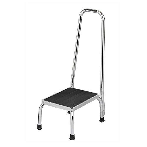 Behrend Trittstufe, Tritthocker, Fußtritt, Stahl Gummi-Oberfläche, mit Haltegriff, 120kg