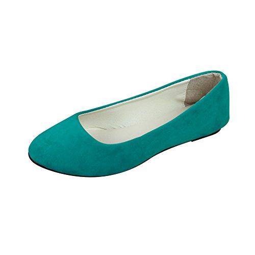 MISSMAO Stiefel Damen Flachschuhe Einzel Schuhe Frauen Sandalen Casual Halbschuhe Comfort Sohle Freizeitschuh Wildleder,Gras-Grün,EU 37 (Wildleder Cognac Stiefel)