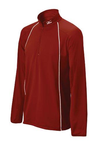 Mizuno da uomo a maniche lunghe performance top G2batting jersey Cardinal