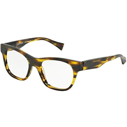 Alain mikli occhiali da vista modello 0a03025 colore 2836, montatura in acetato color giallo e marrone, stile uomo