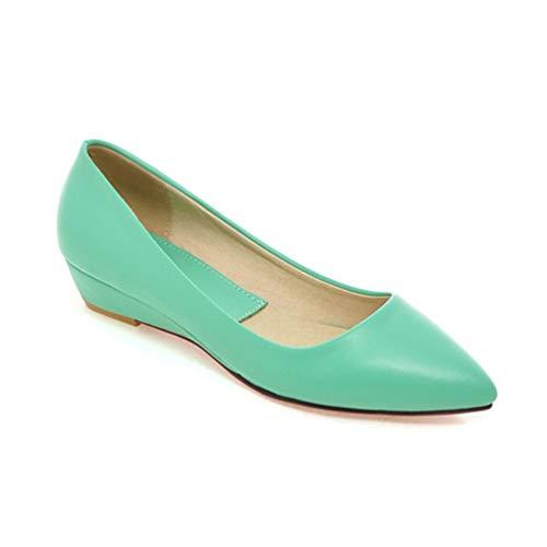 Damenschuhe Komfort lässige Schuhe Pumps Low Heels Schwarze Damen Keile Spitzen Zehenschuhe -
