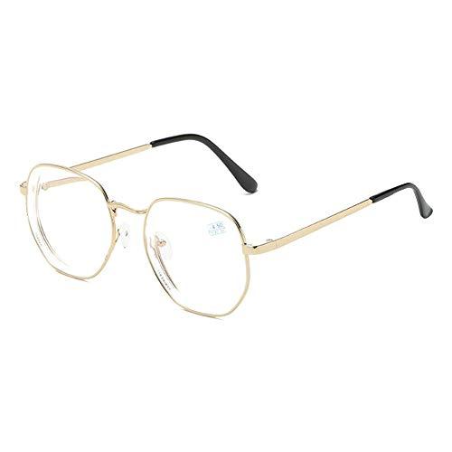 GEMSeven Metall Vollrand Pilot Brille Polygon Optische Gläser Frauen Männer Myopie Brille