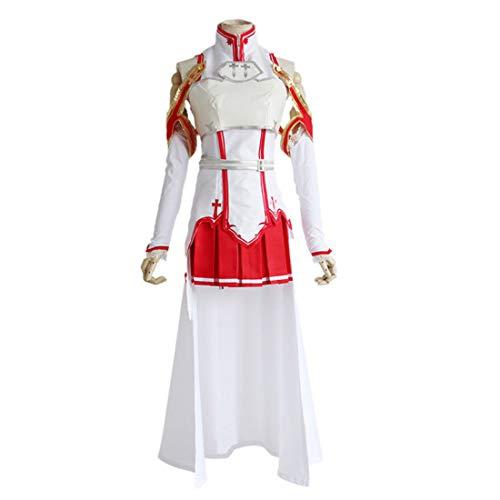 Kostüm Spiel Charaktere - YKJ Anime Charaktere Weiße Kampfanzüge Rote Röcke Anime Charaktere Spielen Halloween Party Kostüme Cosplay Komplettset,M-Suit