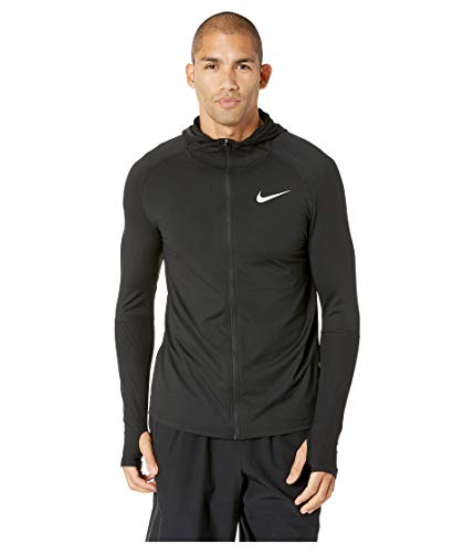 Nike Herren Element Full-Zip Hoodie, Black/(Reflective Silver), XL - Element Full Zip Sweatshirt