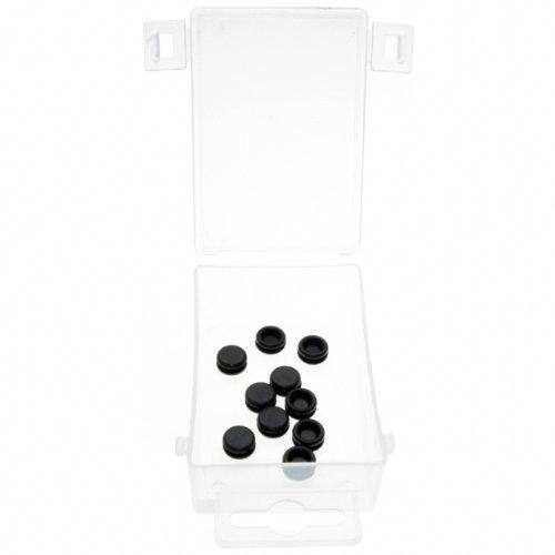 10 x Gummi Stopfen Satz/Karosseriestopfen Sortiment Gummimembran Set Karosseriemembran TYP geschlossen Verschlußstopfen für Karosserie Blech 7,14 mm (im Aufbewahrungsbox/Sortimentsbox)