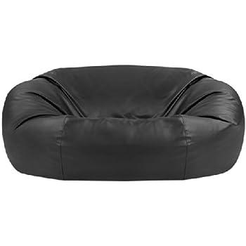 Magnificent Europes Biggest Beanbag Gigantic Bean Bag Chair In Black Bralicious Painted Fabric Chair Ideas Braliciousco