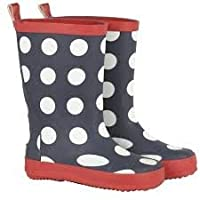 Celavi Girls 320017-7790 Polka Dot Navy Wellies: UK 3.5 / EUR 20