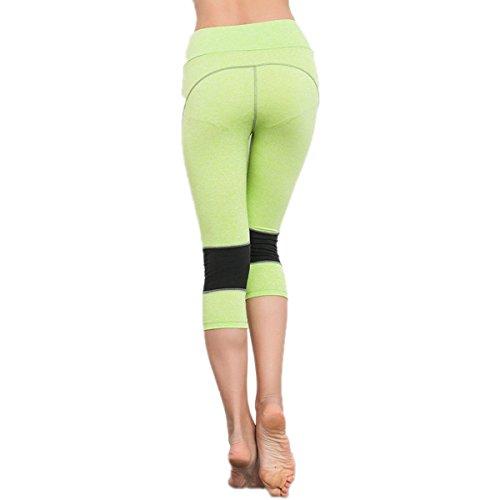 Rapido Respirabile Di Formazione A Secco Yoga Pants Delle Donne Di Estate Pantaloni Corti 2Pack Green