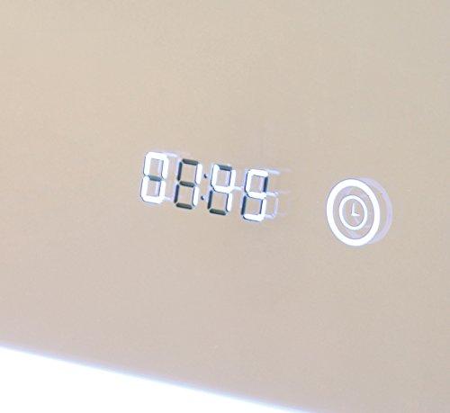 HOKO® LED Bad Spiegel beleuchtet mit Digital Uhr  ANTIBESCHLAG SPIEGELHEIZUNG Fulda Bild 4*