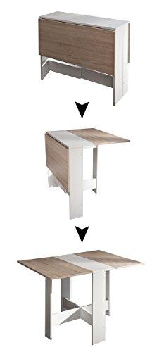 Symbiosis 2050a2134 x 00 contemporáneo-Mesa plegable de madera con 2 puertas...