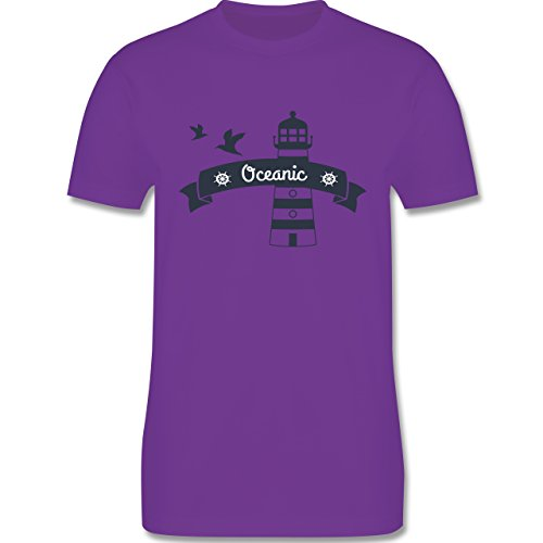 Schiffe - Oceanic Segeln Leuchtturm - Herren Premium T-Shirt Lila
