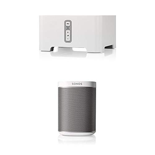 Sonos CONNECT Musikstreaming über WLAN für herkömmliches Audio-Equipment + Play 1 WLAN-Speaker für Musikstreaming, weiß