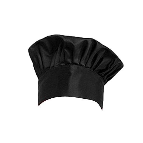 (VENMO Home KochmüTze BäCker Hut Koch MüTze Unisex BistromüTze Kochhut Elastischen Weihnachtsmann KüChe Restaurant Cook Cap FüR Kochen Verstellbar Chef's Hat(Schwarz))