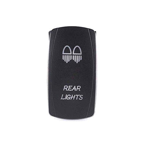 Fornateu LED-Rücklicht Rocker Kippschalter Wasserdicht 5-Pin 12V 24V EIN-Aus-Schalter Rückleuchten Auto Power Plus -