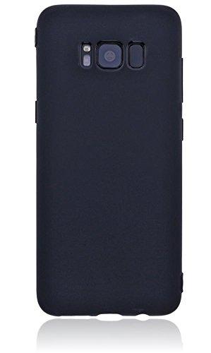 Burkley Double Side Full Body Silikon Schutzhülle für Apple iPhone 7 Handyhülle Full Cover Case Hülle Cover Tasche Vorderseite + Rückseite beidseitiger Schutz transparent Ultra Slim - Schwarz