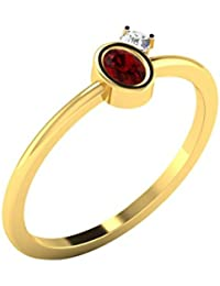 [Sponsored]His & Her 9KT Gold, Diamond And Ruby Ring For Women - B079RV97QP