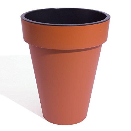 Terracota cubo Slim 46cm diámetro plástico maceta