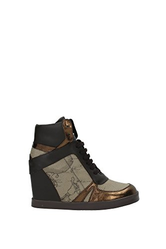 1-classe-alviero-martini-sneakers-woman-brown-beige-bronze-leather-textile-af221-39-eu