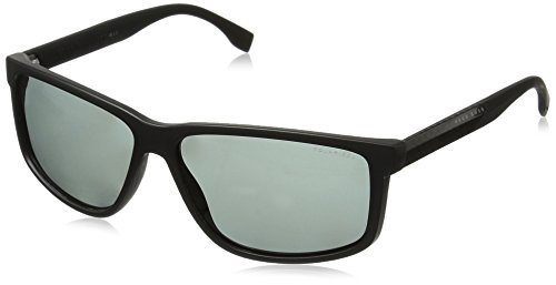 BOSS Hugo Herren 0833/S RA HWM Sonnenbrille, Schwarz (Blk Crbnblk/Grey Pz), 60