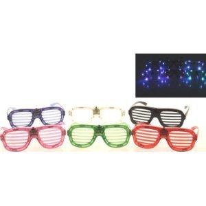 6 x Partybrille LED Gitterbrille Party Brille Atzen Atzenbrille