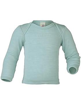 Baby Unterhemd langarm, 70% Wolle (kbT) 30% Seide, Engel natur