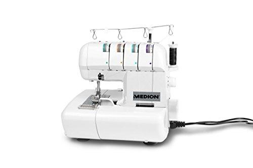 Medion MD 14302 Machine à Coudre Surjeteuse, Autre, Blanc,...