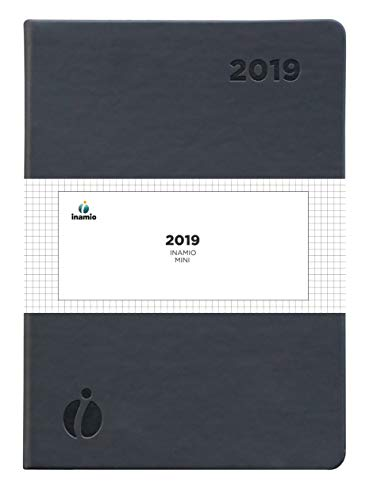 2019 Dated Diary by Inamio – A5 Size Week to View Planner – Includes Monthly Views – Annual Calendar with 30 Minute Intervals, Notes and Hardcover