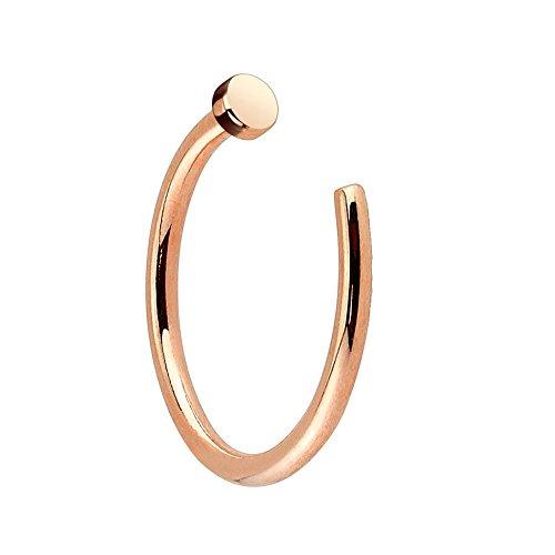 PiercedOff Piercing nez anneau or rose 18GA(1mm x 8mm)