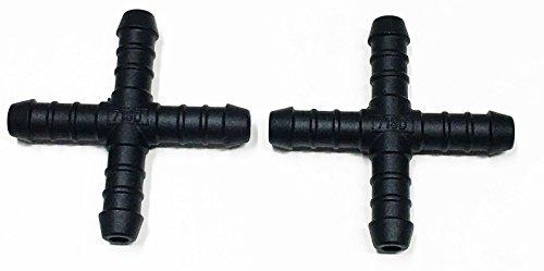 2 x 12 mm Plastique de 800/connecteurs – pièce X connecteur raccords connecteur
