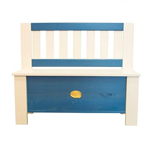 Axi House- Storage Bench, Colore Blau, 96 x 37 x 79 cm, A031.041.00