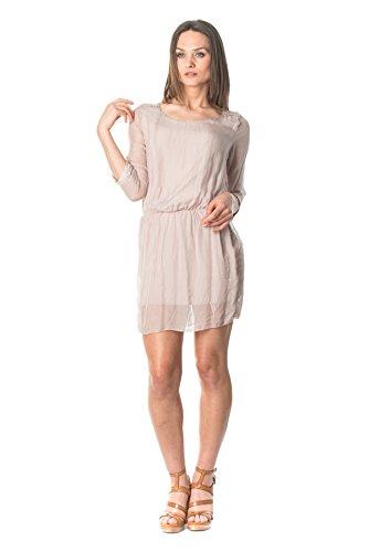 laura-moretti-mini-seidenkleid-mit-rundem-ausschnitt-taschen-und-detail-auf-schultern