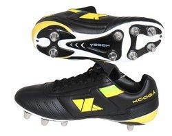3b68b7751e Kooga Rugby botas relampago LCST Junior multicolor negro/amarillo  Talla:Talla 4