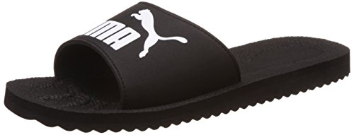 PumaPurecat - Scarpe da Spiaggia e Piscina Unisex adulti, Nero (Black-white 01), 42 EU (8 UK)