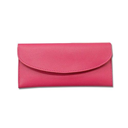 Mefly Damen Mode Leder Geldbörse Multi Card Hand Tasche Tasche Rose red